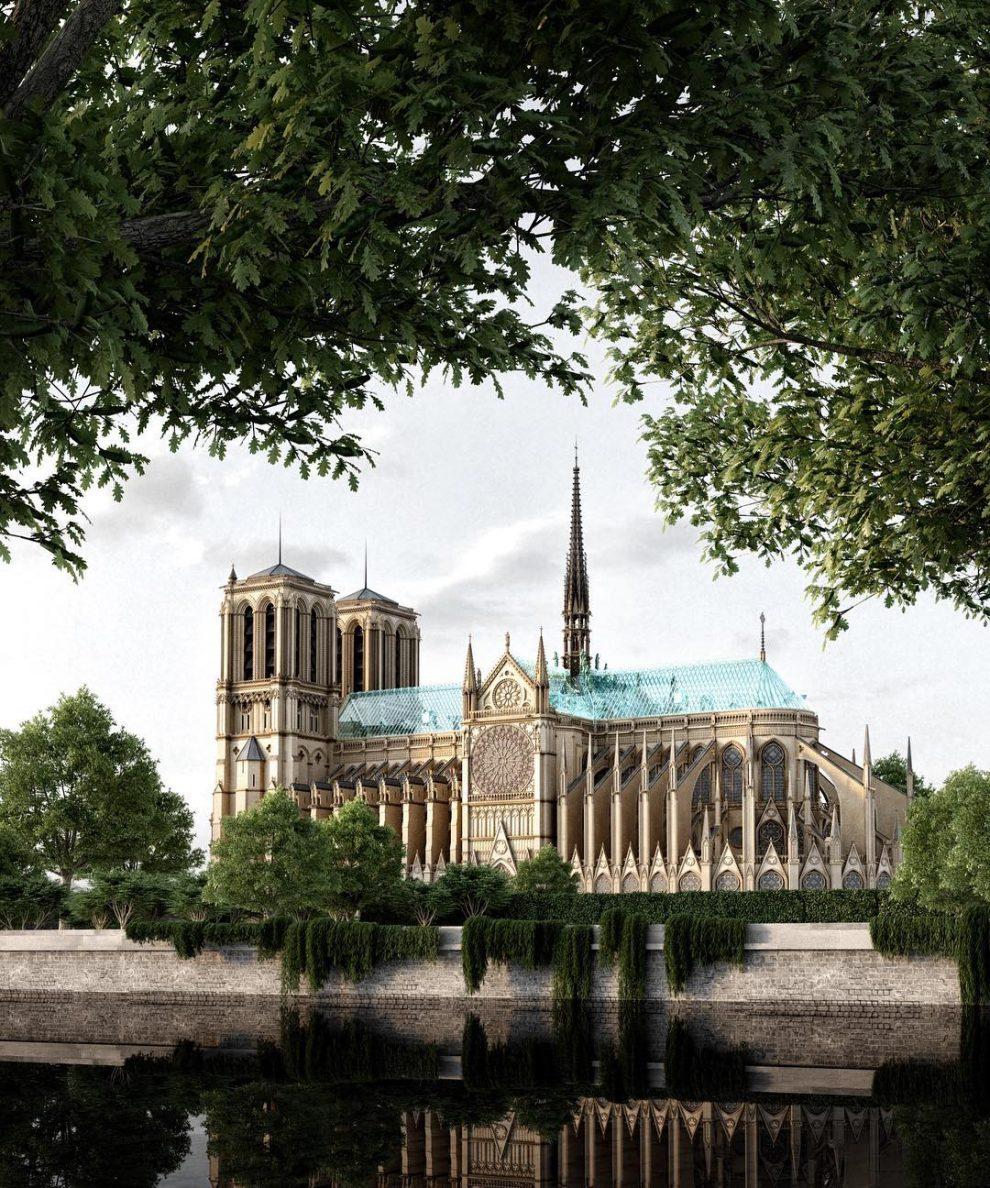 c5cf84fd Slavs Suggests Modern Notre-Dame Restoration Designs, Both Serious ...